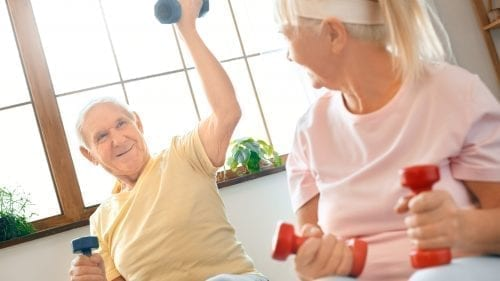 seniors working out to avoid muscle loss