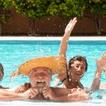 seniors swimming and enjoying mental and physical benefits