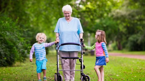 grandma and grandkids- Senior Falls