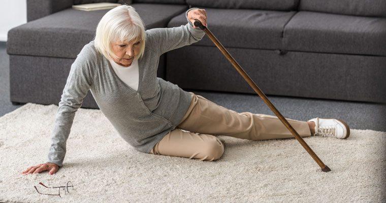 Woman Senior Falls